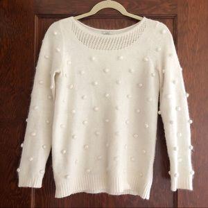 Madewell angora pom pom sweater